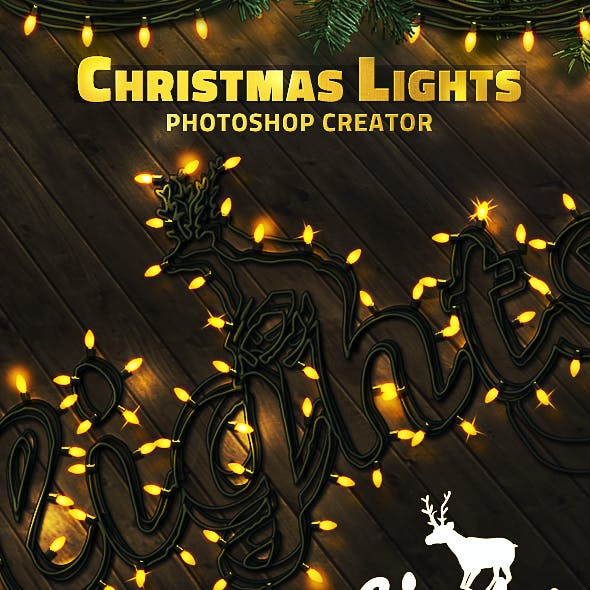 Christmas Lights Photoshop Creator