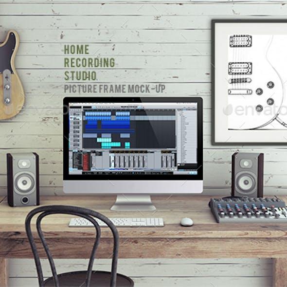 Home Recording Studio Mock-Up