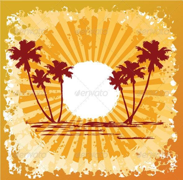 Ocean Beach Sun Abstract - Travel Conceptual