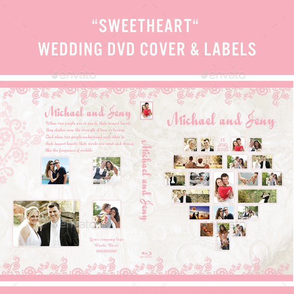 Wedding Dvd Cover and Labels