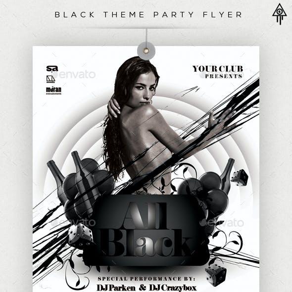 Black Theme Party Flyer