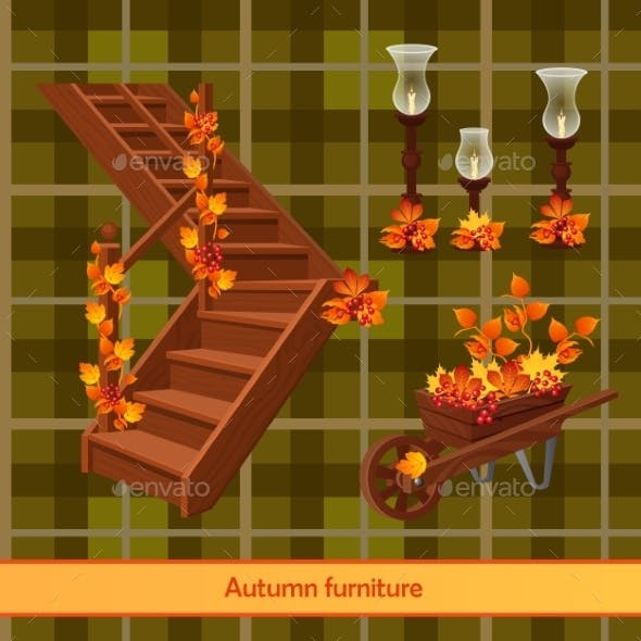 Elements of Autumn Scenery and Decor