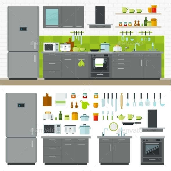 Modern Kitchen - Man-made Objects Objects