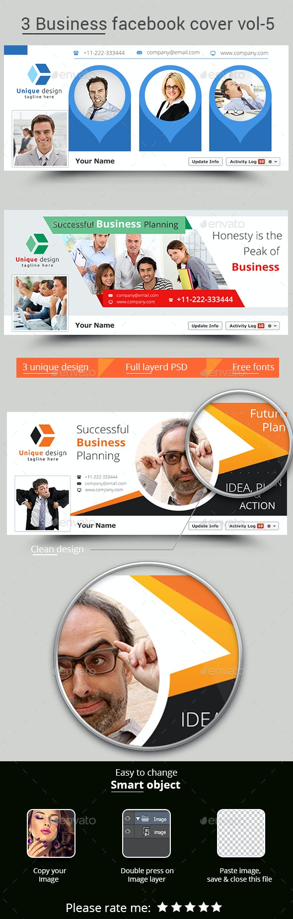 3 Business Facebook Cover Vol-5
