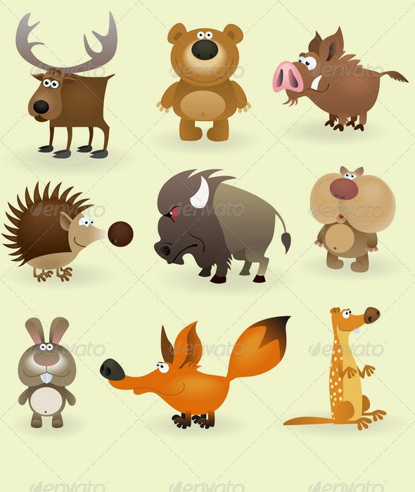 Wild Animals Set (Forest) - Animals Characters