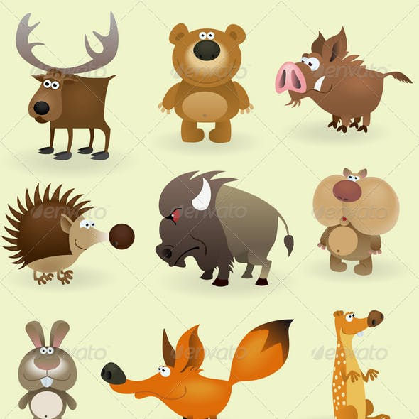 Wild Animals Set (Forest)
