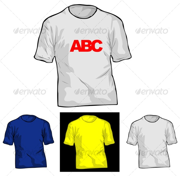 T-shirt Template - Man-made Objects Objects