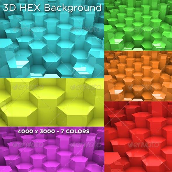 3D HEX Background