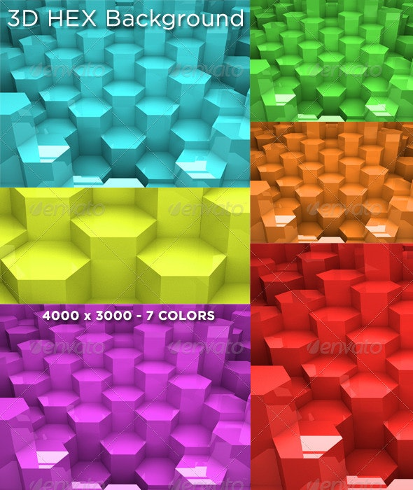 3D HEX Background - Backgrounds Graphics