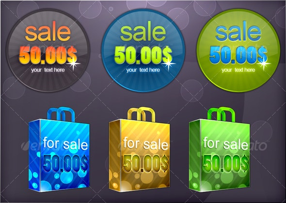 For sale tags - Web Elements