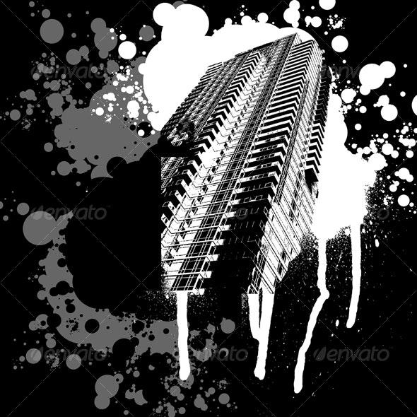 Skyscrapper Graffiti - Miscellaneous Conceptual