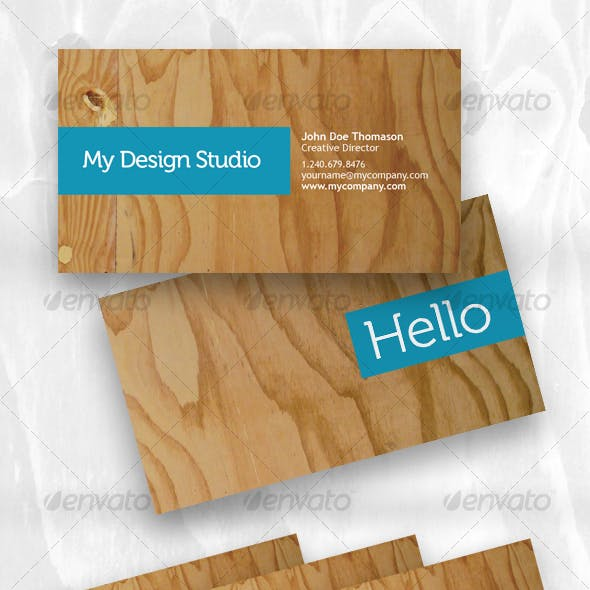 Designer business card - plywood style