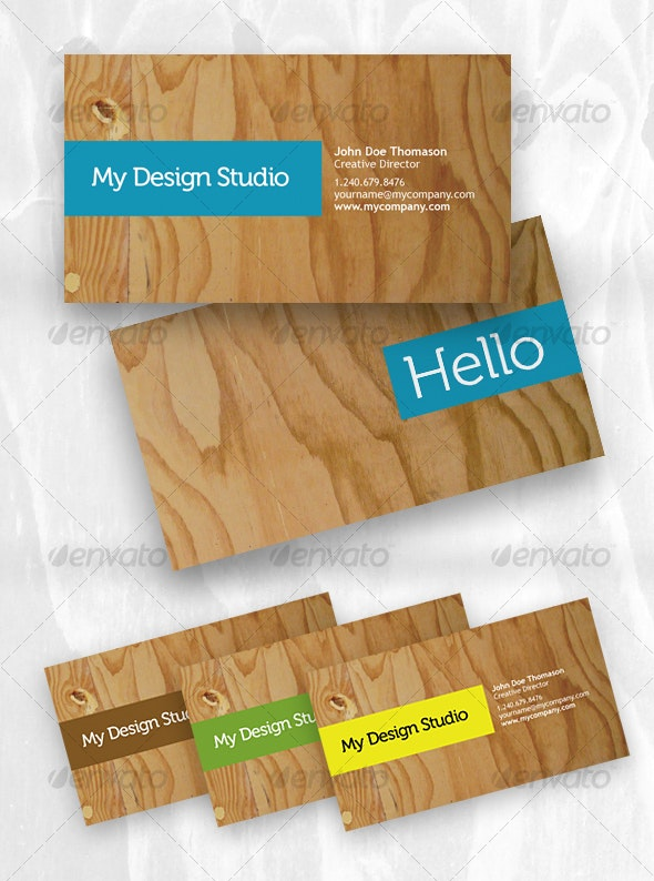 Designer business card - plywood style - Industry Specific Business Cards