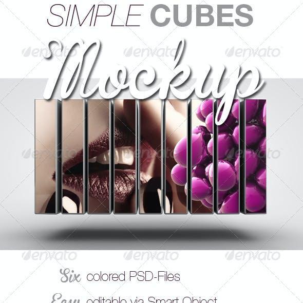 Simple Cube Mockup