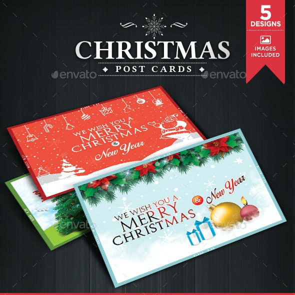 Christmas Post Cards - 5 Designs