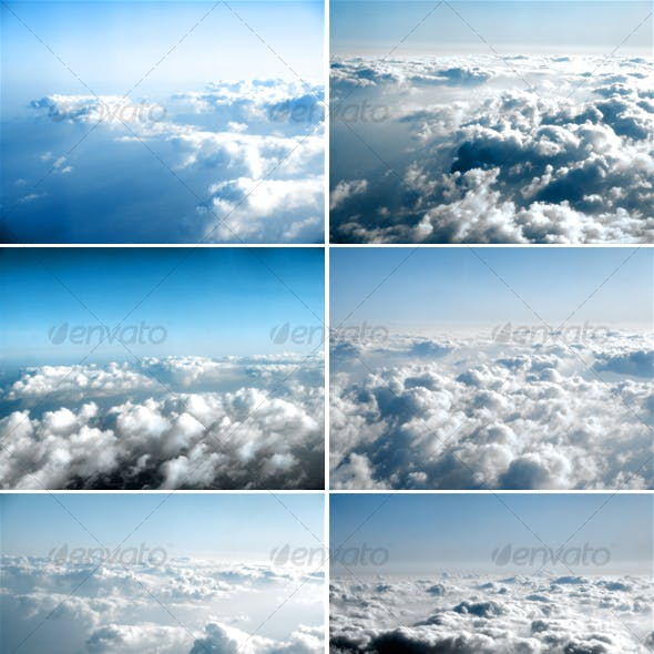 Fly over the sky - Clouds background images