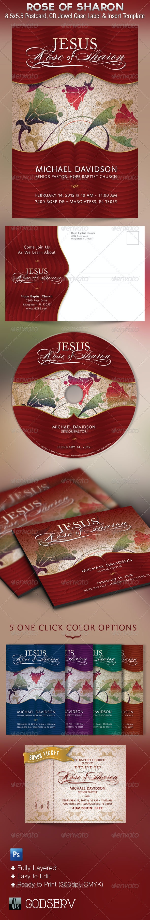 Jesus Church Flyer CD Template - Church Flyers