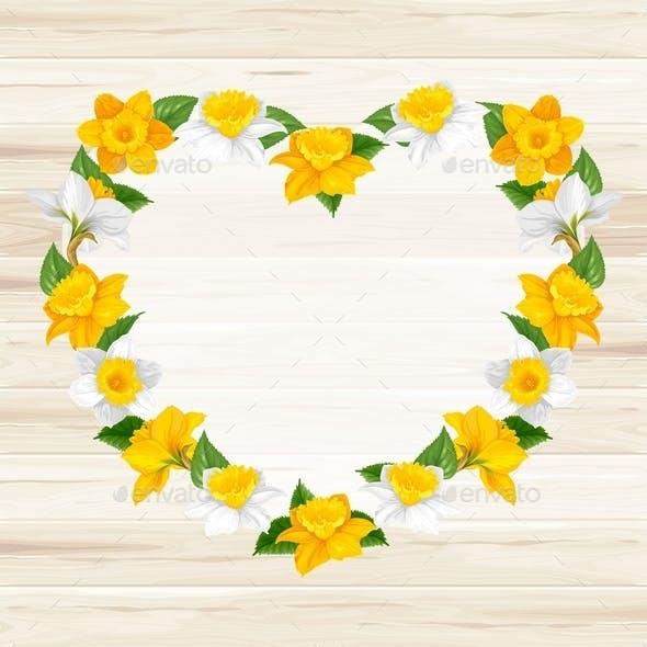 Heart Of Spring Flowers