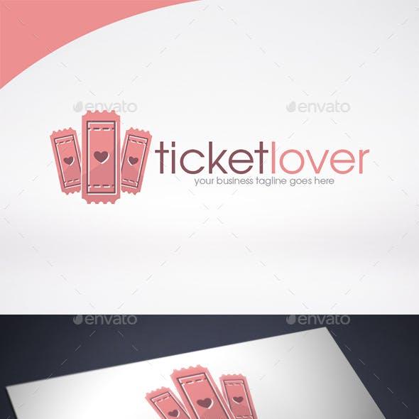 Ticket Love Logo Template