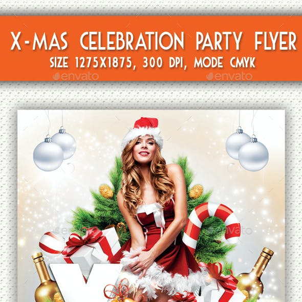 X-mas Celebration Party Flyer