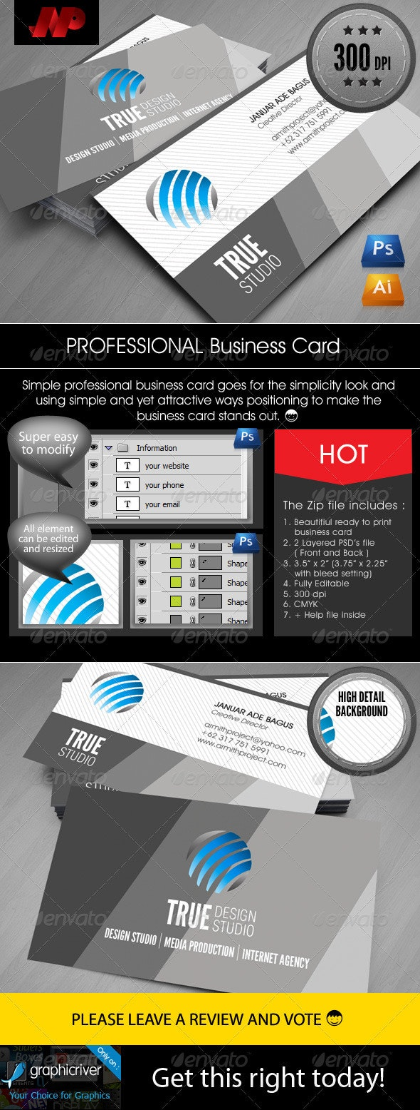 Elegant and Professional Business Card - Corporate Business Cards