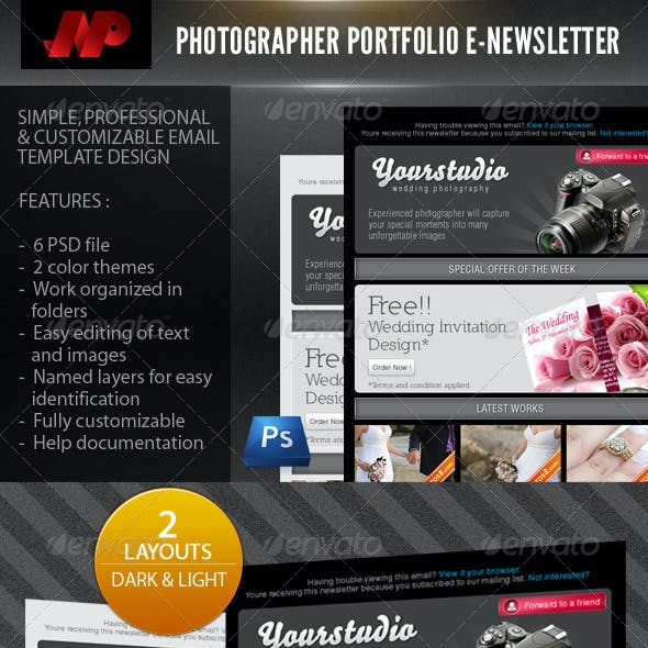Photographer Portfolio E-Newsletter