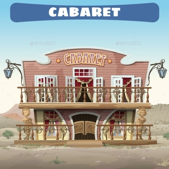 Vintage Cabaret In The Wild West In The Town