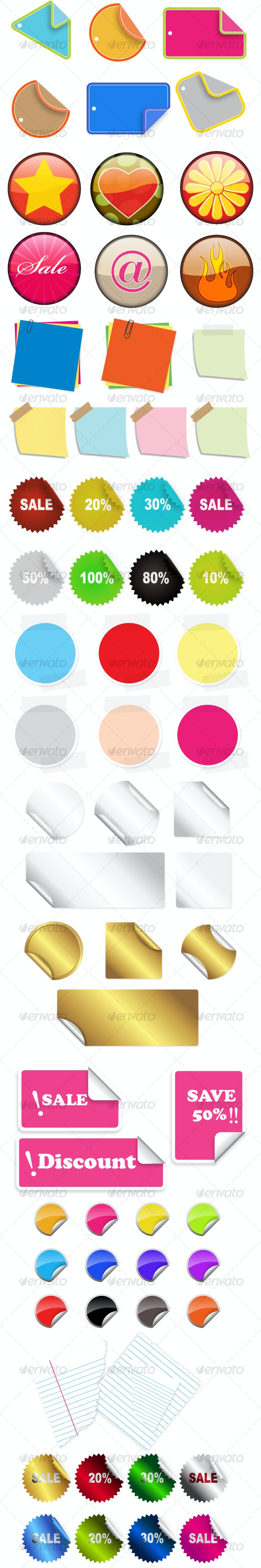 Vector Stickers and Badges - Miscellaneous Vectors