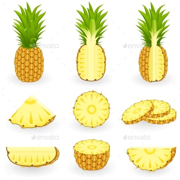 Icon Set Pineapple