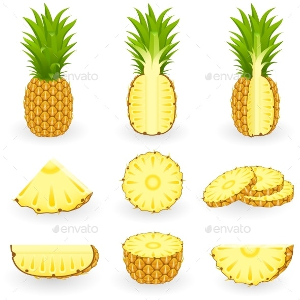 Icon Set Pineapple - Food Objects