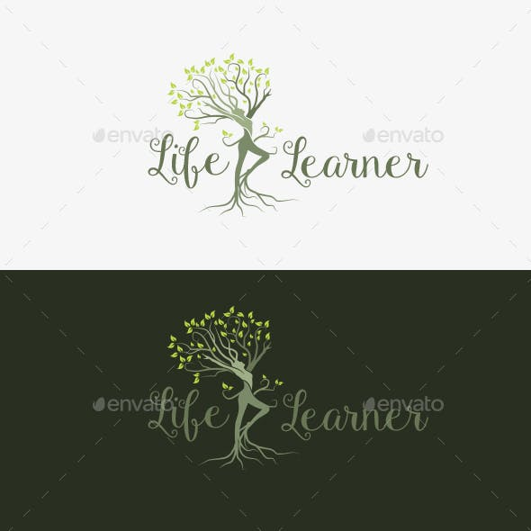 Life Learner Logo Template