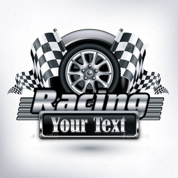 Racing Emblem on White