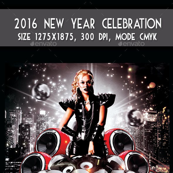 2016 New Year Celebration Party Flyer
