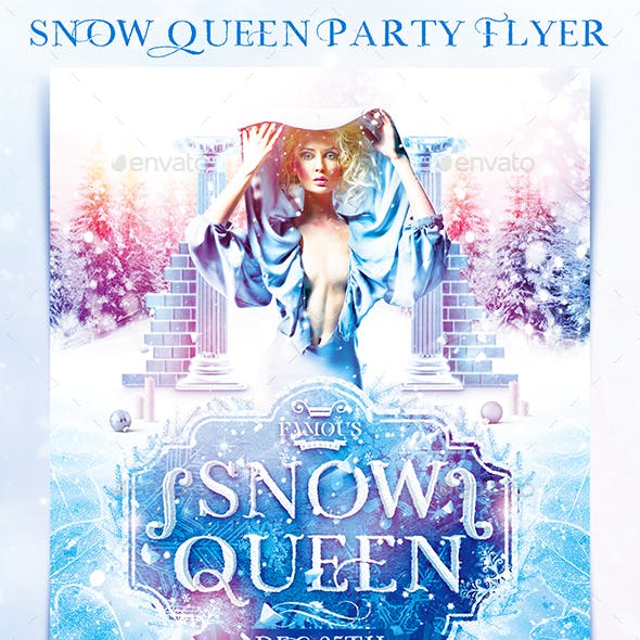 Snow Queen Party Flyer
