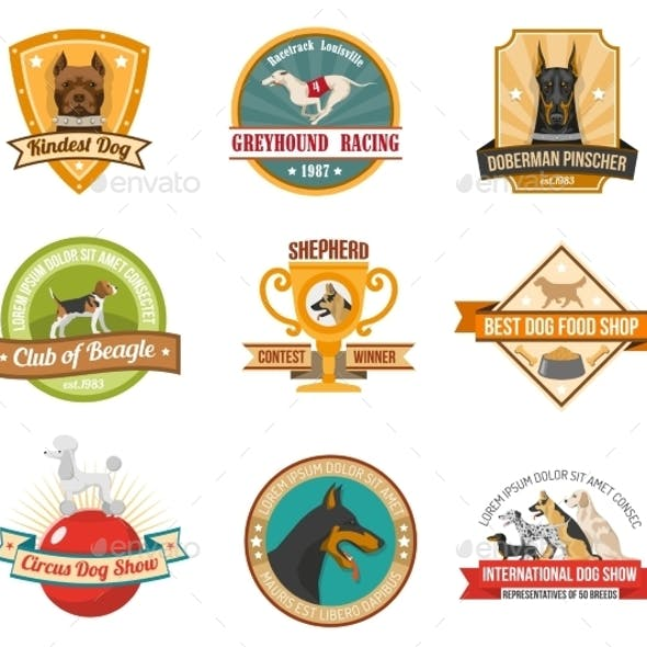 Dog Emblems Set