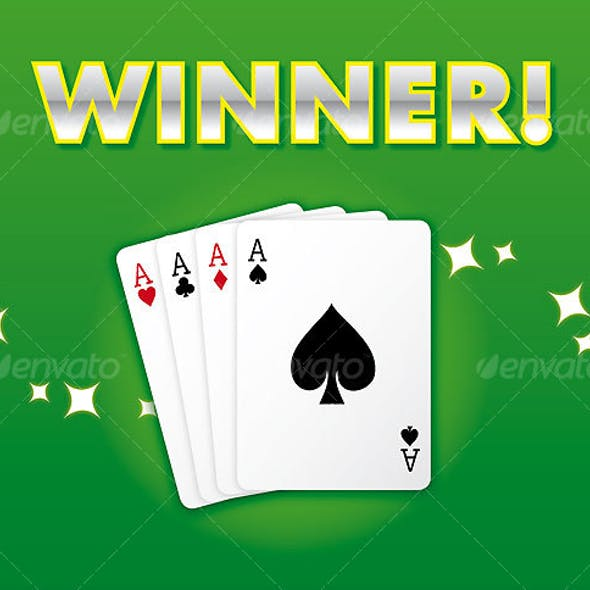 WINNING HAND: Casino Style Card Suite, All Aces!