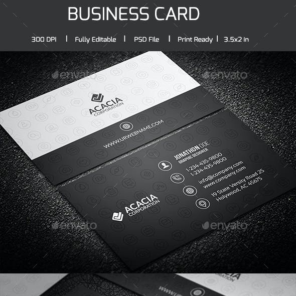 Social Icon Business Card