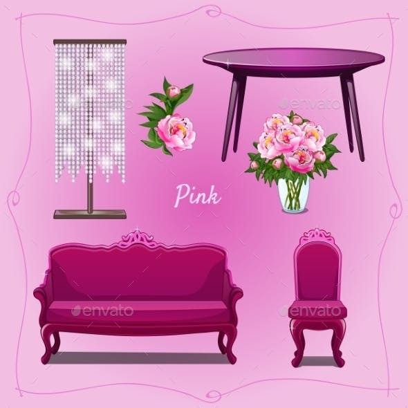 Luxury Furniture and Floral Decorations