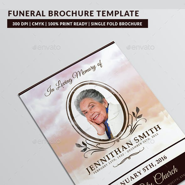Loving Memory Funeral Program Brochure Template 01