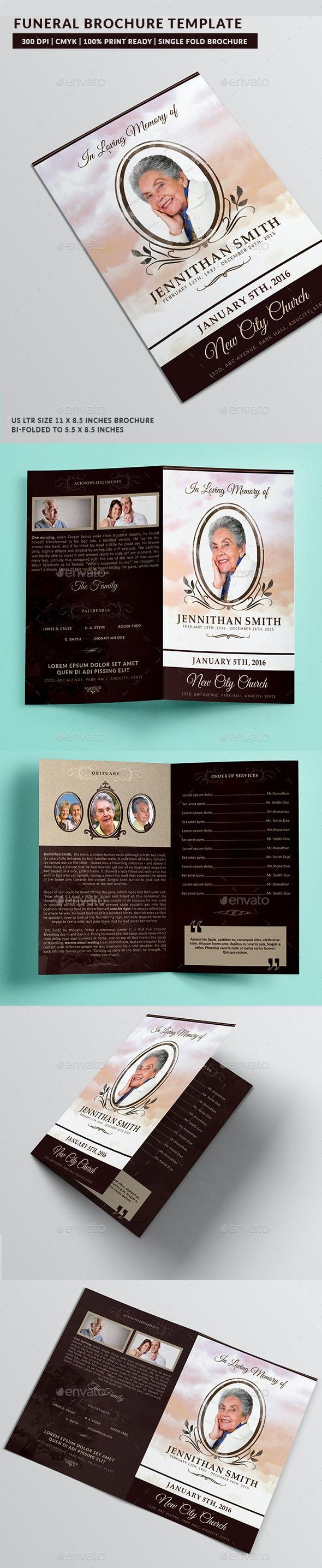 Loving Memory Funeral Program Brochure Template 01 - Brochures Print Templates