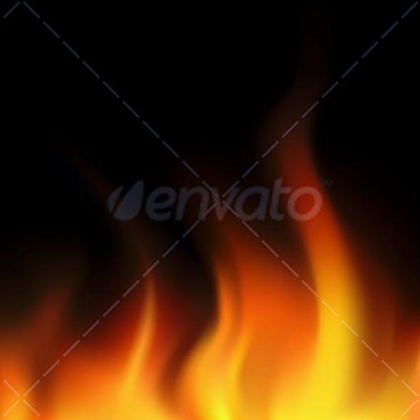 Flame seamless border