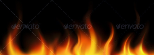 Flame seamless border - Borders Decorative