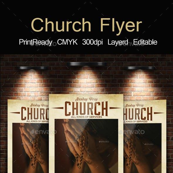 Church Pray Flyer Template