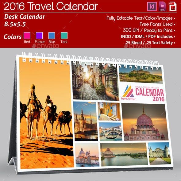 Corporate 12 Page 2016 Desk Calendar