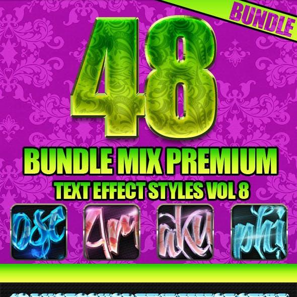 48 Bundle Mix Premium Text Effect Styles Vol 8
