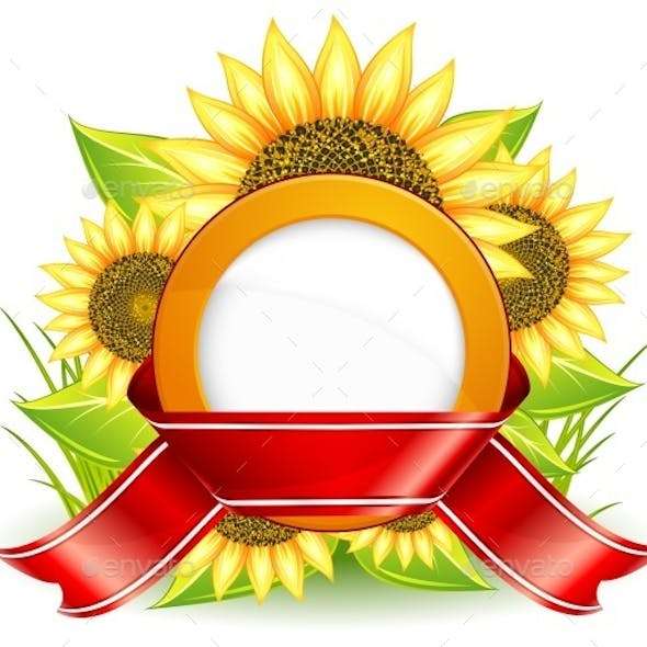 Sunflowers and Ribbon