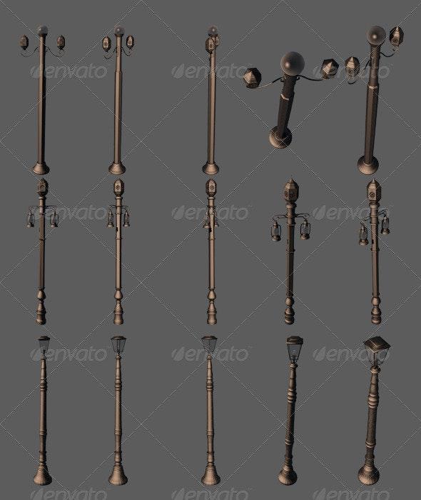 Street Lamps - Objects 3D Renders