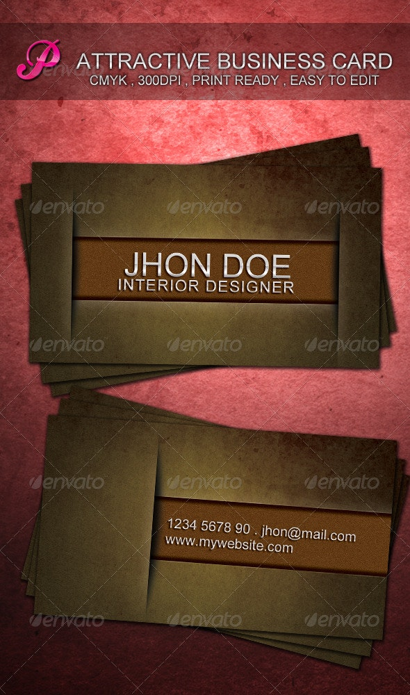 Attractive Business Card - Grunge Business Cards