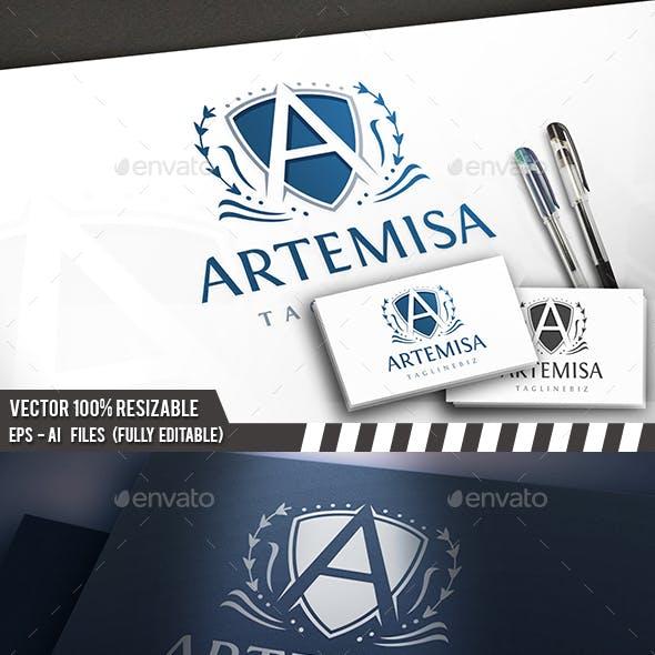 A Letter Crest Logo