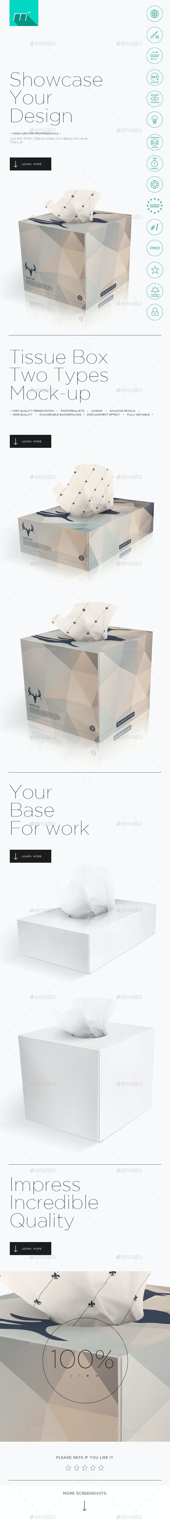 2x Tissue Box Mock-up - Miscellaneous Product Mock-Ups
